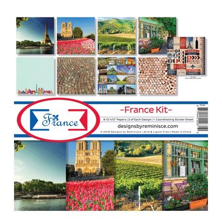 "Reminisce  - Kit Collezione France - 12x12"""