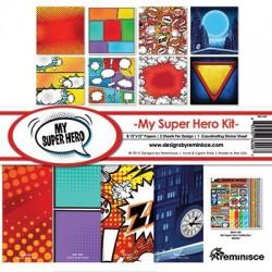 """Reminisce  - Kit Collezione My Super Hero - 12x12"""""""