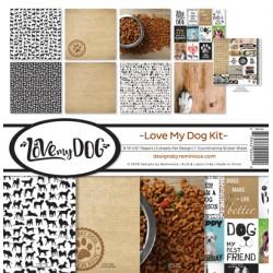 "Reminisce  - Kit Collezione Love My Dog - 12x12"""
