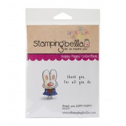 StampingBella - Timbro Cling - Thank You Hoppy Poppy