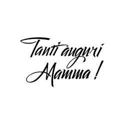 Impronte d'autore - Timbro legno - Auguri Mamma