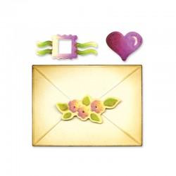 Fustella Sizzix Envelope, 2-D & Seals