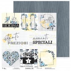 Creative Studio - Carta Sky Blue - Journaling Card