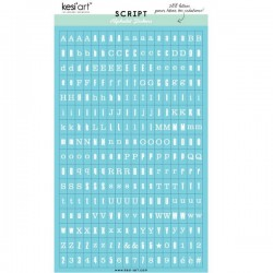 Alfabeto sticker kesi'art - Azzurro