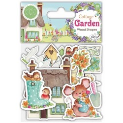 Craft Consortium - Dies Cut Cottage Garden - Wooden Ephemera Shapes