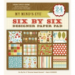 """My Mind's Eye - Kit Collezione Gnome Sweet Gnome - 6x6"""""""