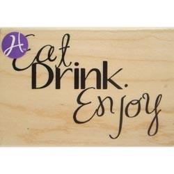 Timbro legno Hampton Art - Eat drink enjoy