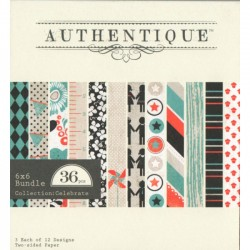 "Authentique - Paper Pad 6x6"" - Celebrate"