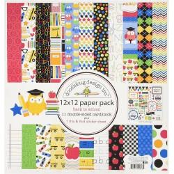"Doodlebug Design - Pad 12x12""- Back To School"
