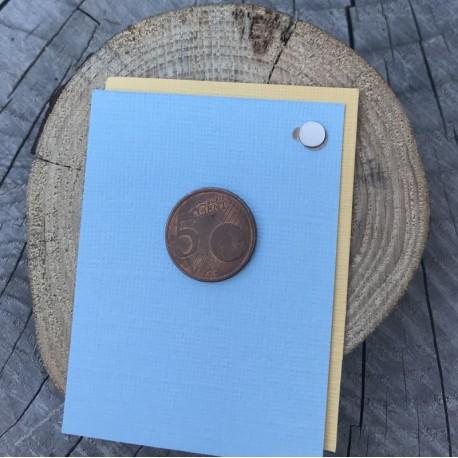 DCIC - Coppia Magneti Adesivi Forti - Diam 6 mm
