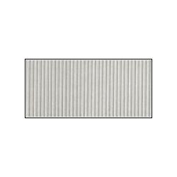 Cartoncino Ondulato Millerighe sottili 25x32 - Argento