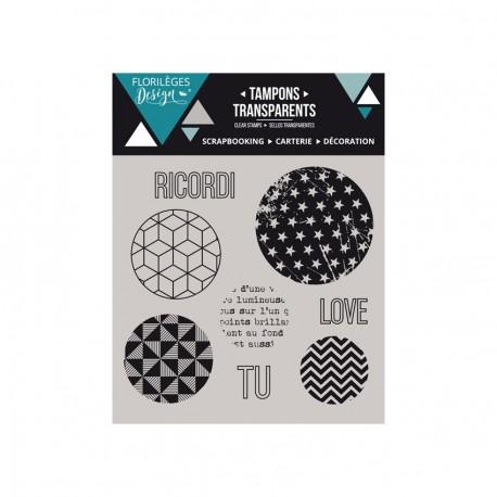 Florileges Design - Timbri Clear - Bolle Geometriche
