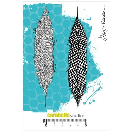 Carabelle - Timbri Cling - Scribbled Feathers