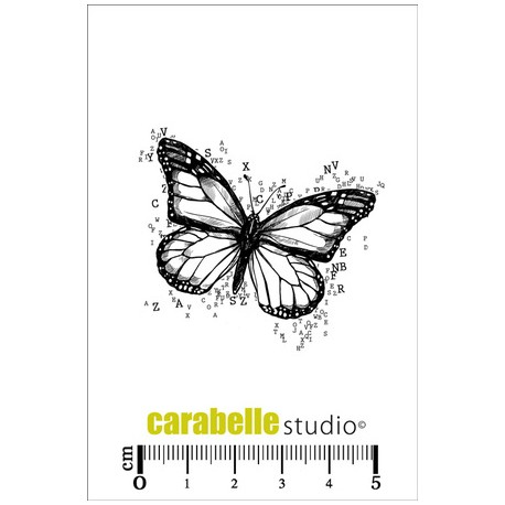 Carabelle - Timbri Cling - Papillon / Lettres
