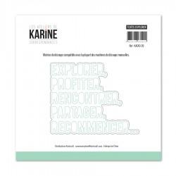 Les Ateliers de Karine - Fustella - Textes Explorer