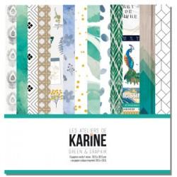 "Les Ateliers de Karine - Kit 12x12""- Green & Graphik"