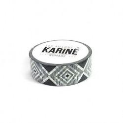 Les Ateliers de Karine - Washi tape- Geometrique noir blanc