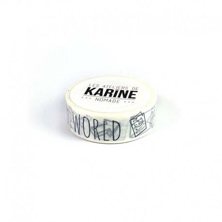 Washi tape-Karine Cazenave-Tapie - World