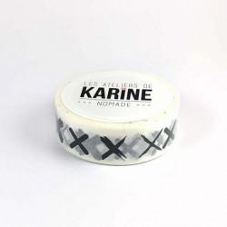 Les Ateliers de Karine - Washi tape - Croix noires