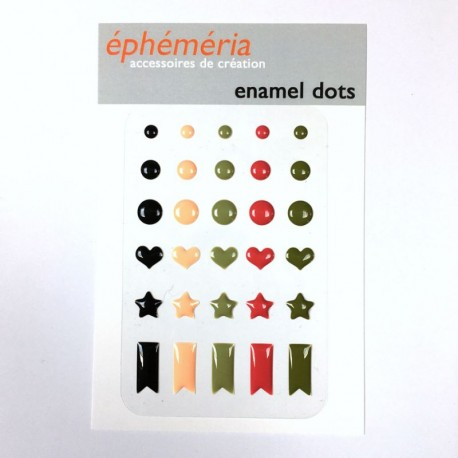 Ephéméria - Enamel Dots - Plumes