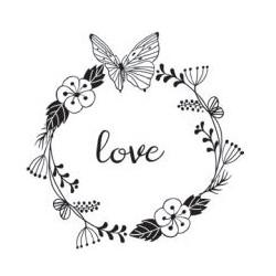 Aladine - Timbro Legno - Love 01714