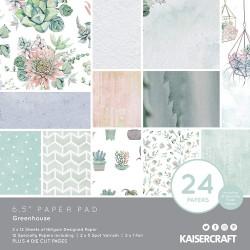 "KaiserCraft - Paper Pad 6x6"" -  Greenhouse"