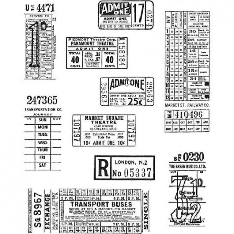 Tim Holtz- Timbro Cling - Tickets Booth