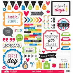 "Doodlebug Design - Foglio Stickers 12x12""- Back to School"
