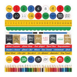 "Kaisercraft - Foglio Stickers 12x12""- 2 cool 4 school"