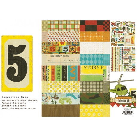 """Crate Paper - Kit Carte 12"""" x 12"""" - Toy Box Collection"""