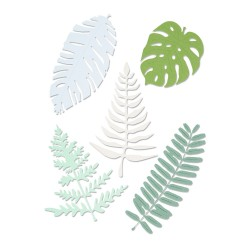 Sizzix - Fustella Thinlits Plus - Large Tropicals