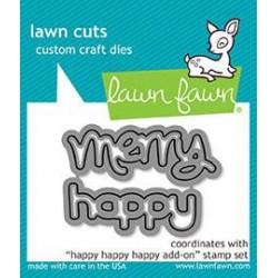 Lawn Fawn - Fustella - Happy Happy Happy