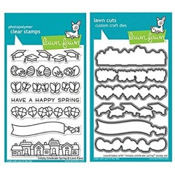 Lawn Fawn - Bundle Fustelle e Timbri coordinati - Spring