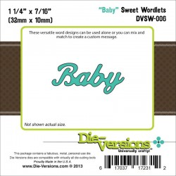 Die-Versions - Fustella - Sweet Wordlets Baby