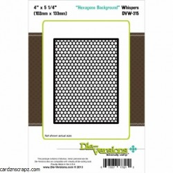 Die-Versions - Fustella - Whispers Hexagon Background