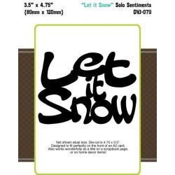 Die-Versions - Fustella - Solo Sentiments Let It Snow