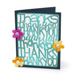 Sizzix - Fustella Thinlits - Thank You