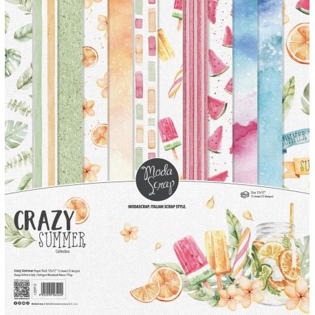 "ModaScrap- Kit Carte 12x12"" Spring Flowers"