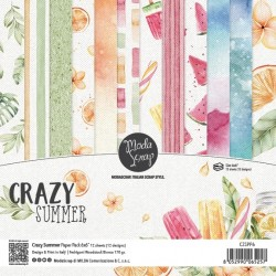 "ModaScrap- Kit Carte 6x6"" Crazy Summer"