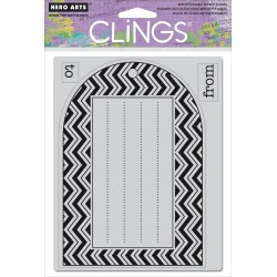 Hero Arts - Timbri Cling - Patterned Tag