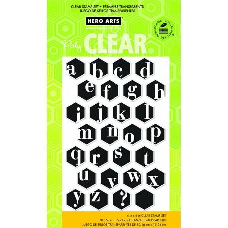 Hero Arts - Timbri Clear - Alaphabet Hexagon