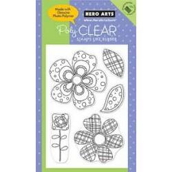 Hero Arts - Timbri Clear - Big Flowers Pattern