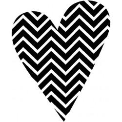 Hero Arts - Timbro legno - Patterned Heart