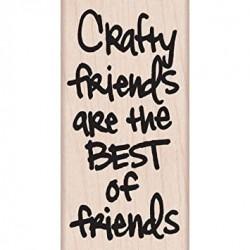 Hero Arts - Timbro legno - Crafty Friends