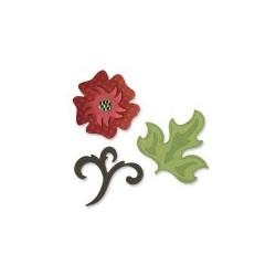 Fustella Sizzix Sizzlits -  Flowers & accent set