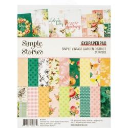 """Simple Stories - Paper Pad 6x8"""" - Simple Vintage Garden District"""