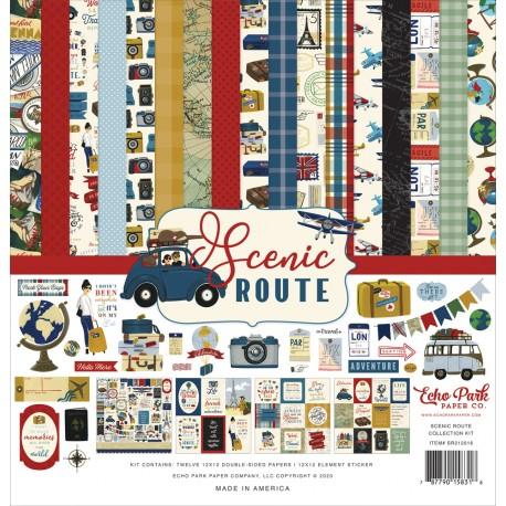 """Echo Park - Kit Carte 12x12"""" - Scenic Route"""