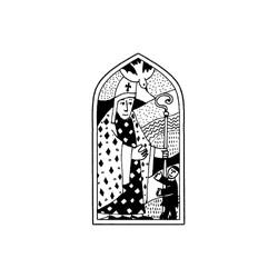 Impronte d'Autore - Timbri Legno - vetrata cresima