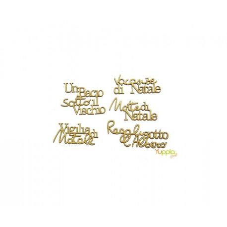Yuppla - Abbellimenti in cartone vegetale - Frasi Natalizie Inglesi