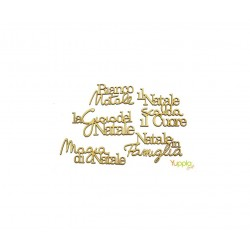 Yuppla - Abbellimenti in cartone vegetale - Frasi Di Natale
